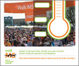 Walk MS Thermometer Poster